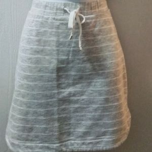 Dresses & Skirts - Striped Gray & White Yoga Skirt